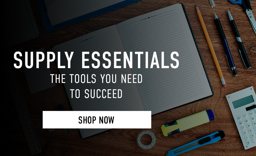 Supply Essentials: the tools you need to succeed. Click to shop now.